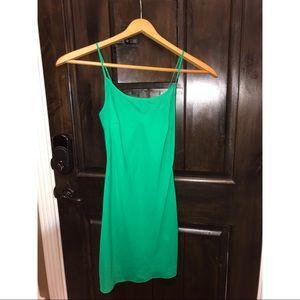 Green Sheer Dress 100% Silk